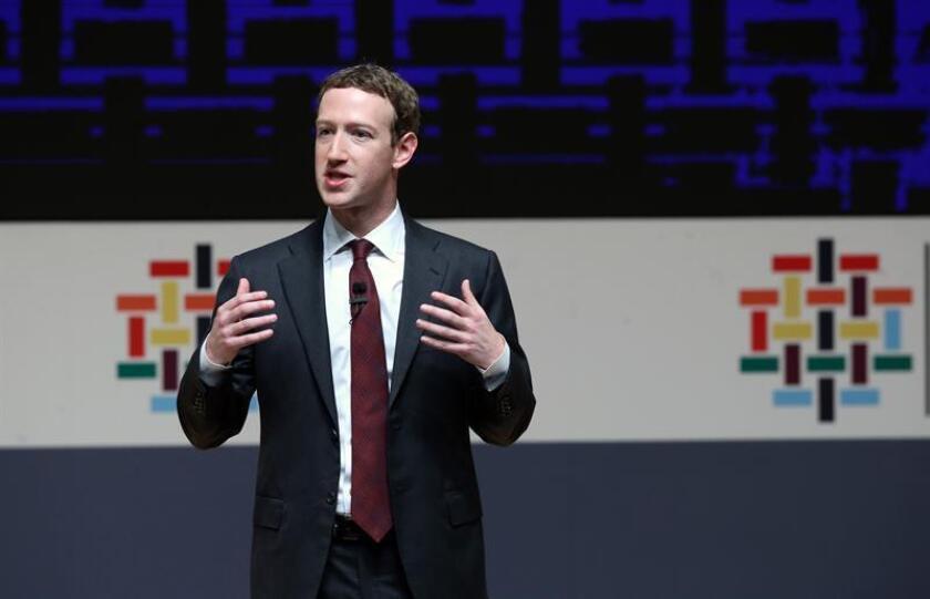 El fundador de Facebook, Mark Zuckerberg. EFE/Archivo