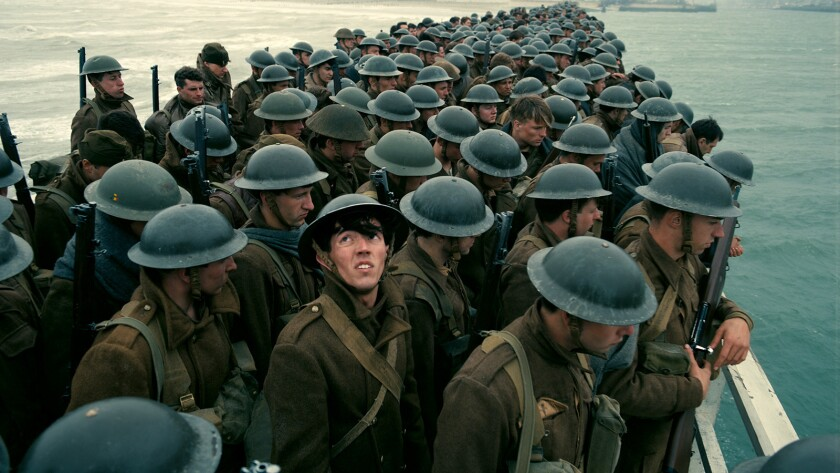 "A scene from the film ""Dunkirk."" Credit: Warner Bros. Pictures"