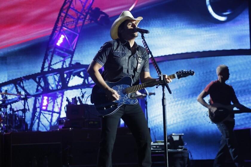 Brad Paisley performs June 5 at the Hollywood Bowl.