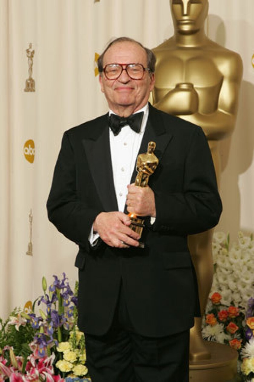Sidney Lumet poses with his honorary Oscar backstage during the 77th Annual Academy Awards on Feb. 27, 2005, at the Kodak Theatre in Hollywood.