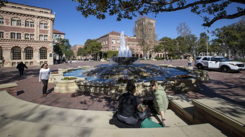 LOS ANGELES, CALIF. -- TUESDAY, MARCH 12, 2019: A view of people visiting the University of Souther