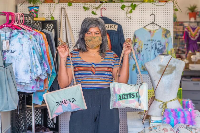 Claudia Biezunski-Rodriguez of Sew Loka, a Barrio Logan-based clothing brand and sewing studio.