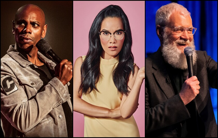 Dave Chappelle, Ali Wong and David Letterman were among the big names scheduled for Netflix Is a Joke Fest, now on hold because of the coronavirus pandemic.