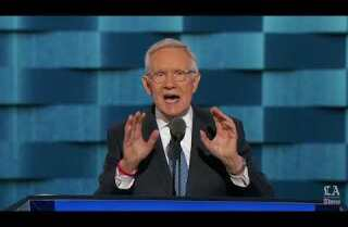 Senate Minority Leader Harry Reid rips into Donald Trump at the Democratic National Convention