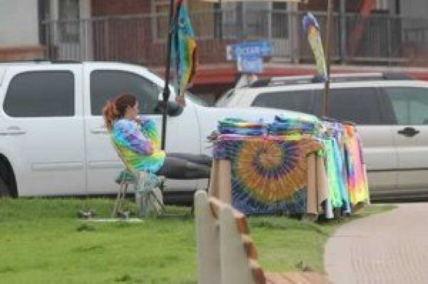 la Jolla shores Association joins a crackdown on vendors like this who may operate at local parks and beaches without a license. Ashley MAckin