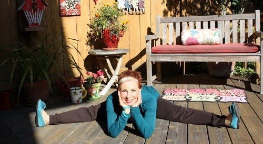 Doing the splits is no problem for Naomi Whitacre, a Carmel Valley ovarian cancer survivor-turned advocate.