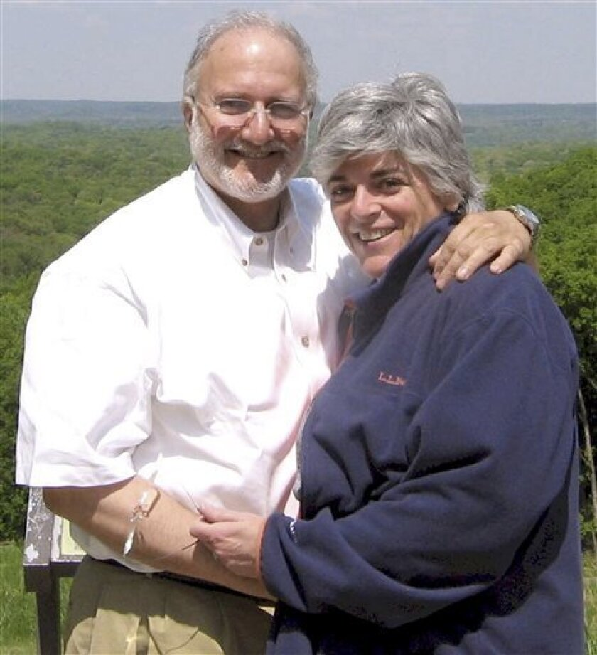 This handout photo provided by the Gross family shows Alan and Judy Gross. In the year her American husband has been detained in Cuba, accused of spying for the U.S., Judy Gross has been forced to sell the family home in Maryland and move into a small apartment in Washington. Her younger daughter, distraught and crying as her father's birthday approached, crashed and totaled her car. Her older daughter has been diagnosed with breast cancer. (AP Photo/Gross Family)