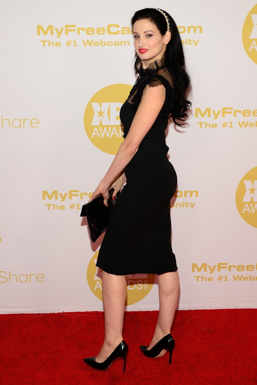 Amie Harwick on the red carpet at the Xbiz Awards on Jan 16, 2020.