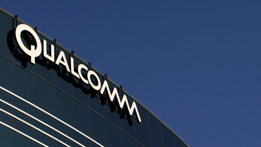Qualcomm is a leading maker of chipsets, or collections of integrated circuits, used in mobile phones. It's not clear whether the San Diego firm would be receptive to an offer or whether the deal would pass muster with federal antitrust regulators.
