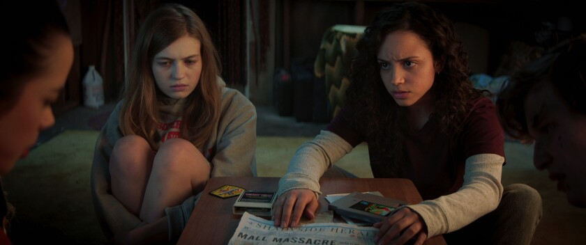 """Olivia Welch and Kiana Madeira introduced their characters in """"Fear Street: 1994."""""""