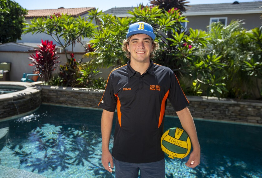 Huntington Beach High's Ethan Crooks has committed to play for UCLA in water polo.