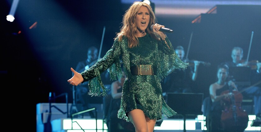 Celine Dion debuted her new residency show at the Colosseum at Caesars Palace on Thursday.