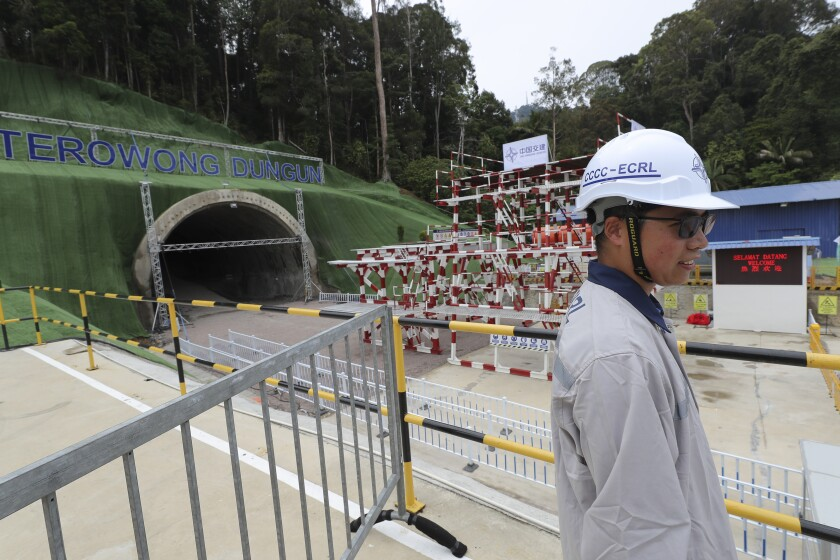 Construction on a railway line connecting eastern and western Malaysia resumed in July 2019 after China agreed to reduce the project cost by one-third.