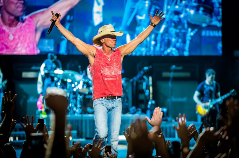 """Kenny Chesney, whose new album """"Here and Now"""" debuted at No. 1, was expected to draw 1.4 million fans on his 2020 tour."""