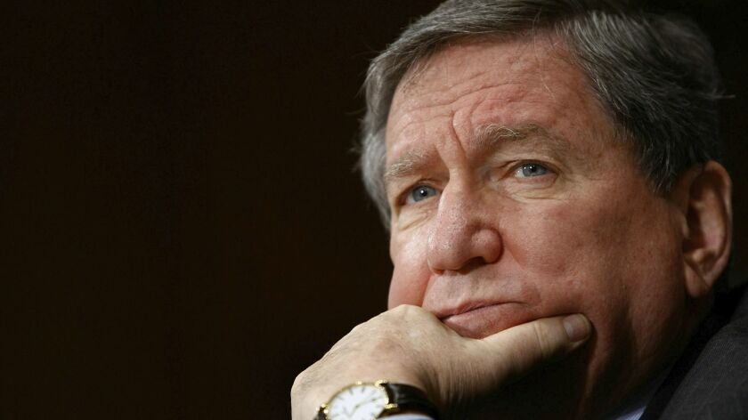"Richard Holbrooke, then special representative for Afghanistan and Pakistan, testifies before the Senate Foreign Relations Committee in Washington in 2009. George Packer's ""Our Man: Richard Holbrooke and the End of the American Century"" provides a portrait of the diplomat."