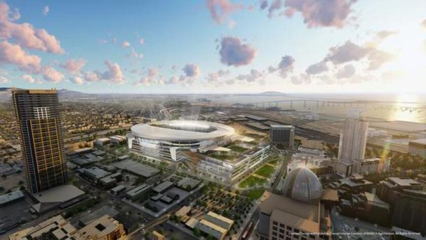 Rendering of proposed downtown stadium.