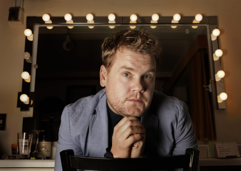 """British actor James Corden, shown in 2012, will host """"The Late Late Show"""" starting next year, CBS announced."""