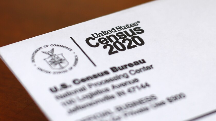 A U.S. Census Bureau document for the 2020 count.