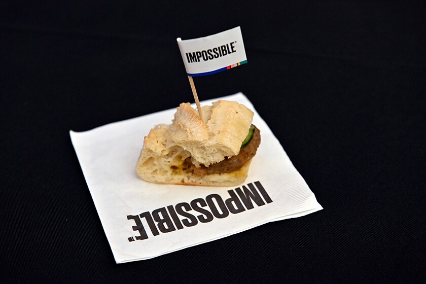 Sandwich containing Impossible Pork