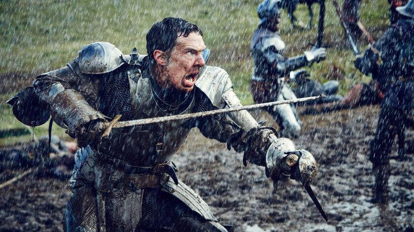 """King Richard III (Benedict Cumberbatch) could really use a horse in this scene from """"The Hollow Crown,"""" a cycle of Shakespeare plays airing on PBS."""