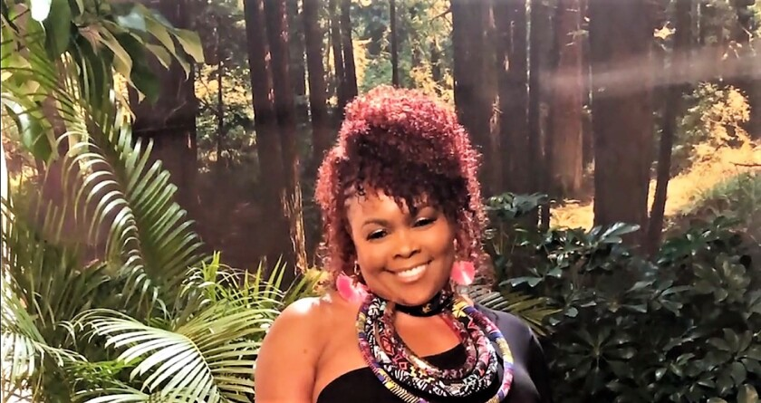 """Alicia Gwynn, shown in a jungle setting during the video shoot of her new single, """"Free,"""" is focusing on writing lyrics and recording songs that are soulful, energetic and uplifting."""