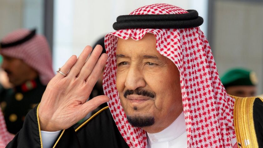 Saudi King inaugurates Shura Council's 3rd Year of 7th Session, Riyadh, Saudi Arabia - 19 Nov 2018