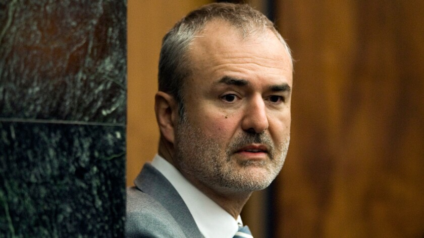 Gawker Media founder Nick Denton arrives in a courtroom in St. Petersburg, Fla. on March 16.