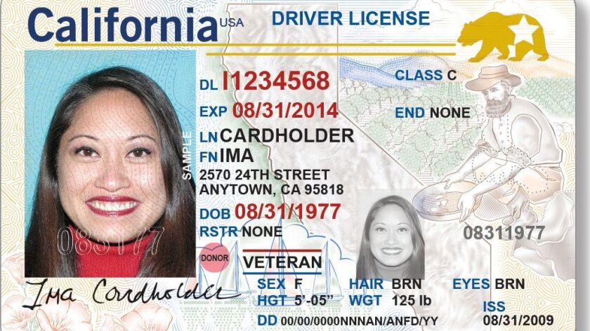 An example of the REAL ID driver license. Beginning Jan. 22, you can apply for a California driver's