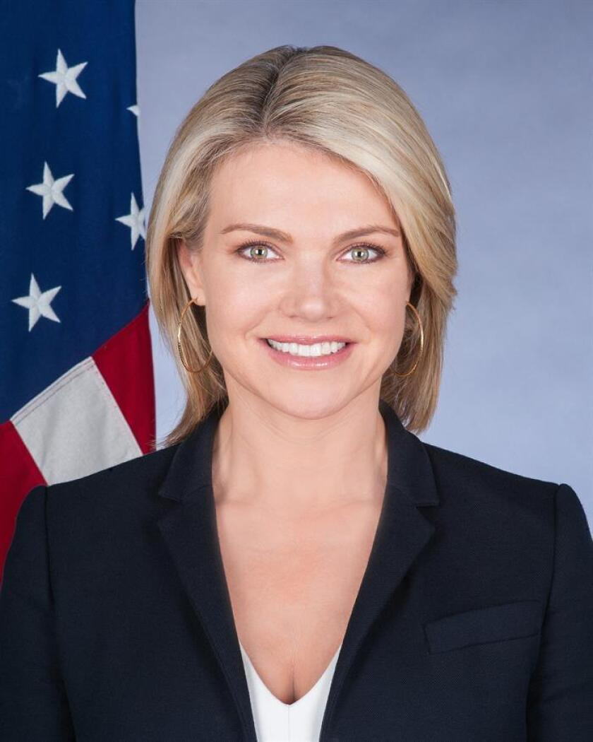 Photo sent by the USA State Department of spokesperson Heather Nauert who Trump nominated to be the UN Ambassador for the U.S. in 2019 Dec. 7, 2018. EPA-EFE/USA State Department