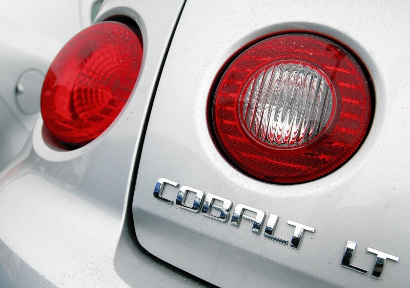 The 2005-07 Chevrolet Cobalt is among the vehicle models being recalled by General Motors over faulty ignition switches.