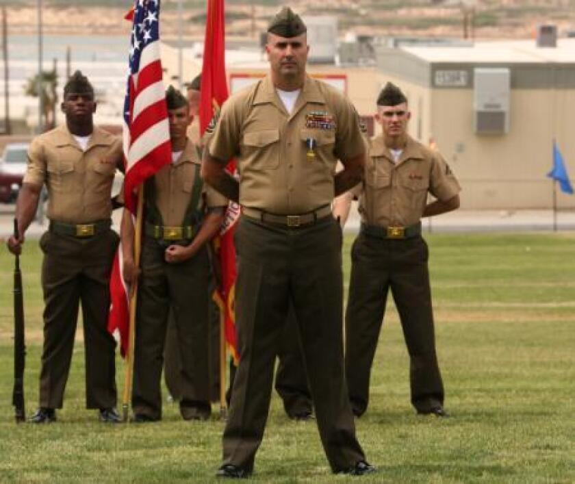 Gunnery Sgt. Richard Jibson received the Navy Cross for bravery during a five-hour firefight in Afghanistan in 2012.