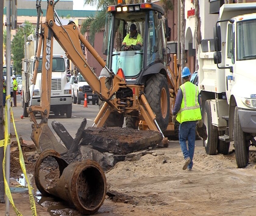 Roads in Hillcrest and North Park were reopened Wednesday after two water mains burst causing flooding and closing nearby businesses.