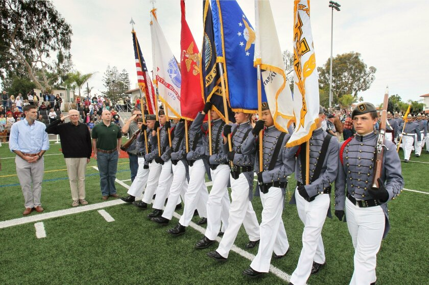 The Army and Navy Academy will hold its annual Veterans Day ceremony Wednesday in Carlsbad. It's one of many events being held around the county honoring veterans this week.