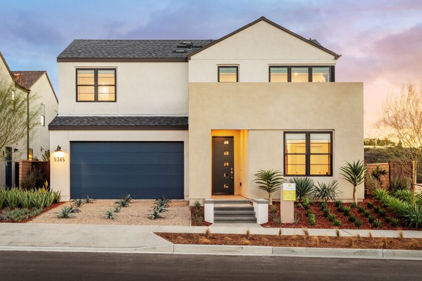 Pardee Homes' new development in Pacific Highlands Ranch will match the architecture of the Sendero neighborhood.