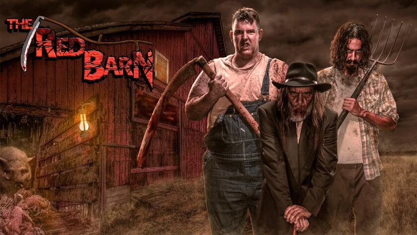 Concept art of the Red Barn haunted maze coming to Halloween Haunt 2016 at Knott's Berry Farm.