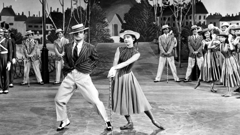 "Gene Kelly and Leslie Caron in ""An American in Paris"" (1951)."