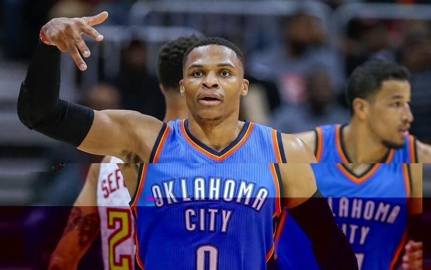 En la imagen, el jugador de Thunder Russell Westbrook. EFE/Archivo