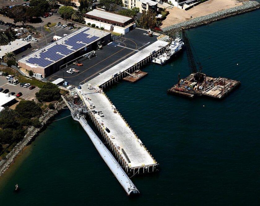 The new Nimitz Marine Facility in Point Loma