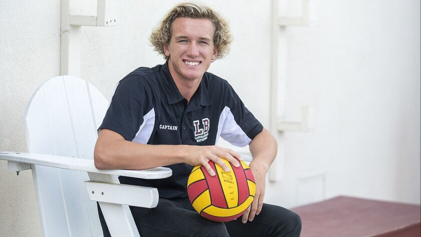 Laguna Beach boys' water polo senior Colton Gregory is the Male Athlete of the Week.