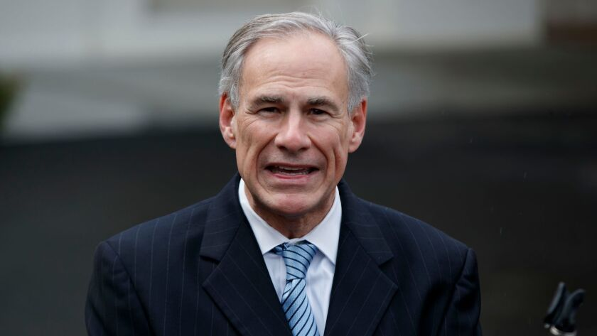 """Texas Gov. Greg Abbott has said he will sign a transgender """"bathroom bill"""" reminiscent of one in North Carolina that caused a national uproar."""