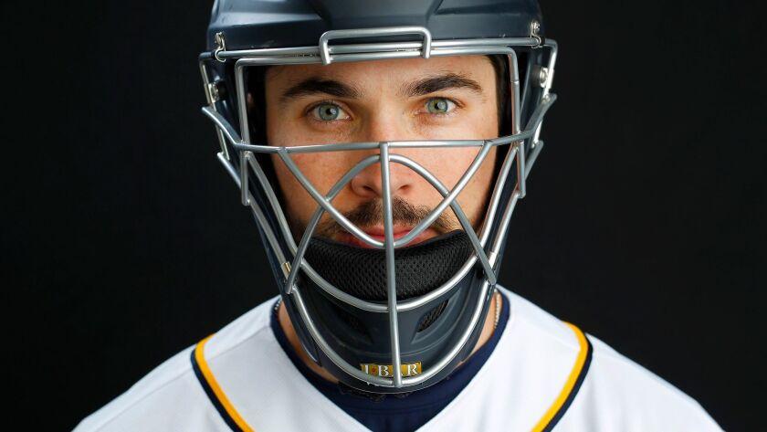 San Diego Padres catcher Austin Hedges.