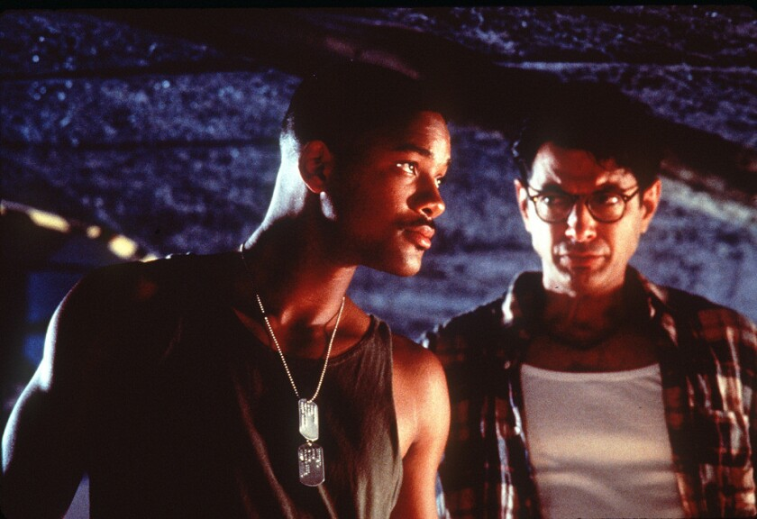 """Classic summer escapism: """"Independence Day"""" with Will Smith, left, and Jeff Goldblum."""
