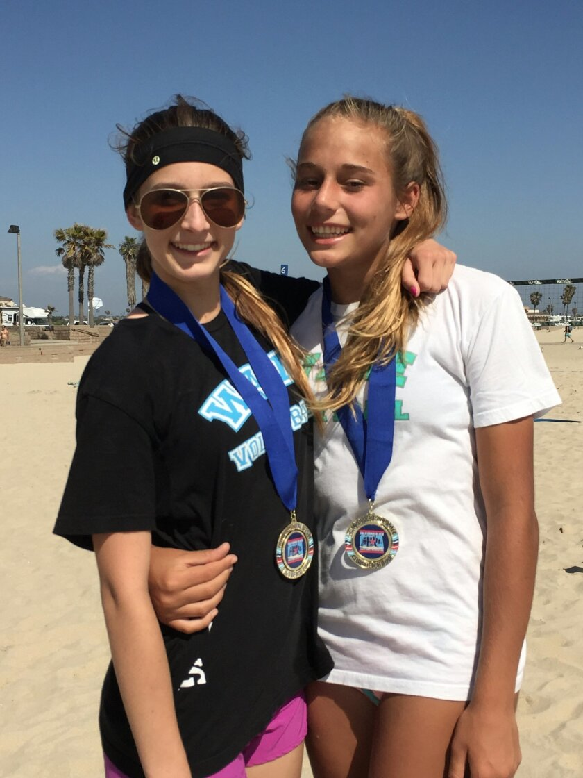 Ellie Auerbach of Solana Beach (left) and Katie Lougeay of Encinitas.
