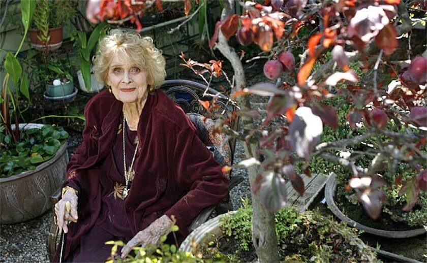 Gloria Stuart at her home in West L.A. on July 6, 2010, 2 days after her 100th birthday.