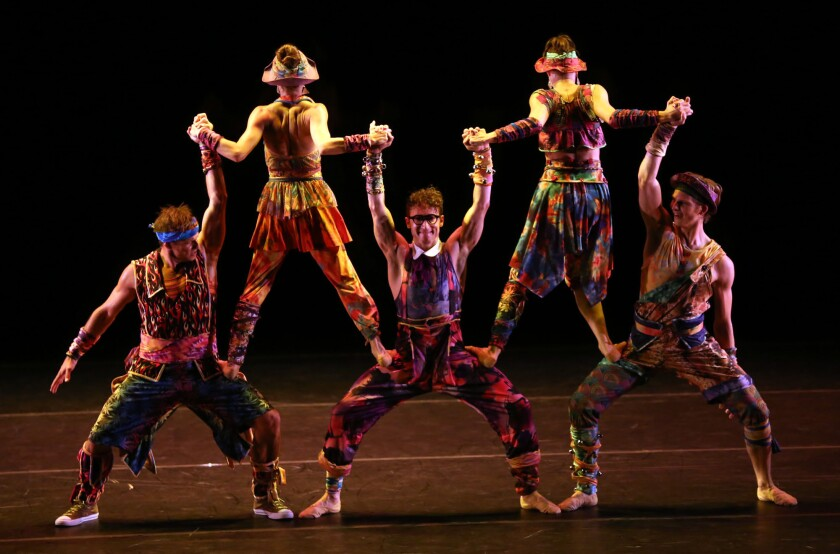 """Dancers perform """"Preludes and Fugues"""" at the Wallis Annenberg Center as part of the celebration of choreographer Twyla Tharp's 50 years in dance."""