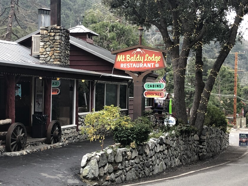 The Mt. Baldy Lodge offers cabins starting at $125.