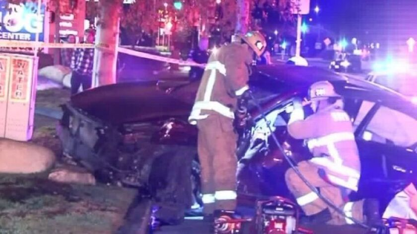 An off-duty LAPD officer was killed in a car crash in Simi Valley on Jan. 1.