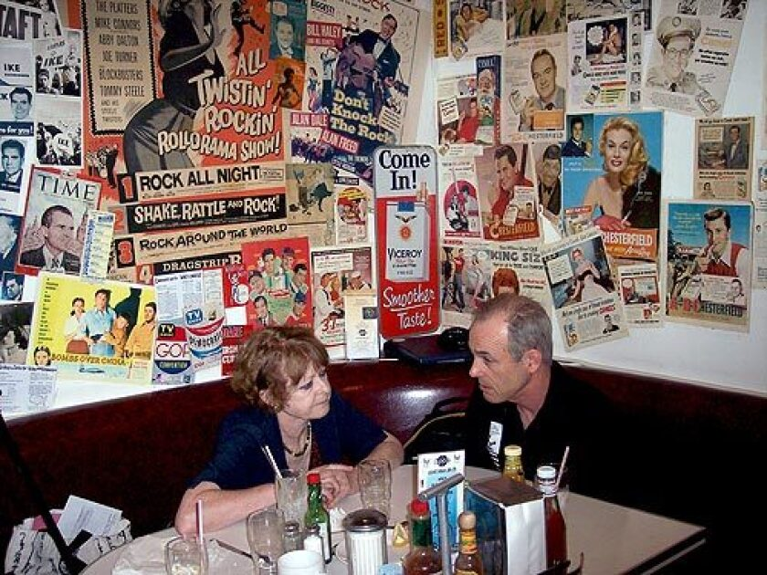 Roxanna Brown with her brother Fred at Cafe 50 in Santa Monica in early March. She was broke and worried about a federal investigation into allegedly looted Thai antiquities, her brother recalls.