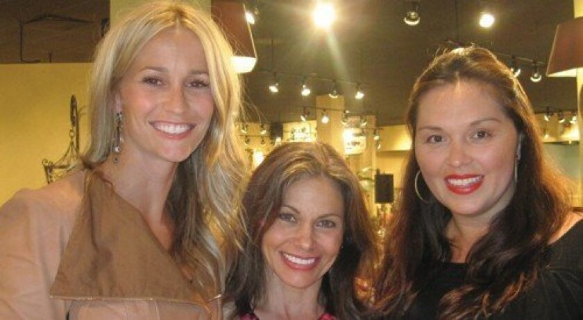 Jannie Kotsay; Maria Barry, co-owner of Le Dimora; Vanessa Mossy