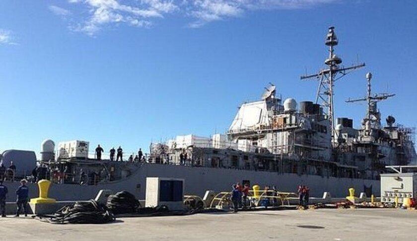 The San Diego-based cruiser Chancellorsville underwent major modernization last year at BAE Systems San Diego Ship Repair.